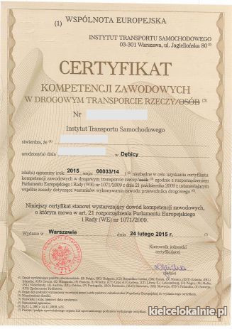 Licencja Transportowa w 14 dni! Użyczenie Certyfikatu!